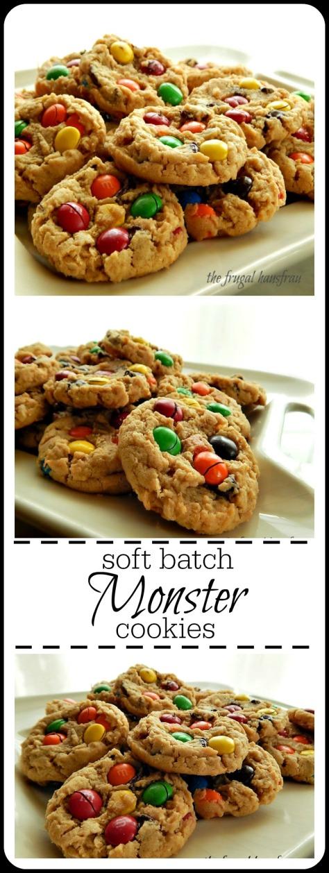 Monster Cookies - Soft Batch Peanut Butter Monster Cookies Frugal Hausfrau