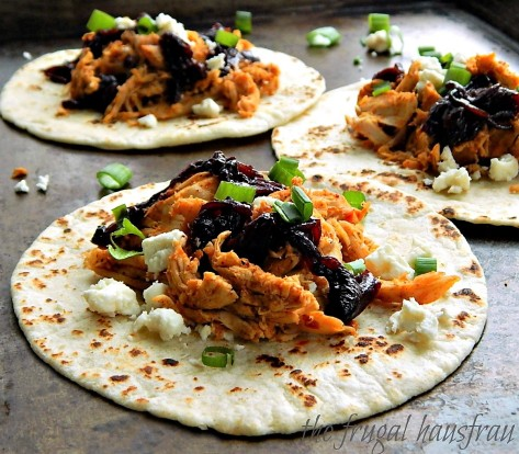 Chicken Tacos with Cherry Chipotle Salsa