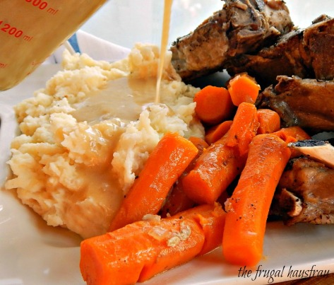 Instant Pot Braised Pork Chops Mashed Potatoes, Gravy & Carrots