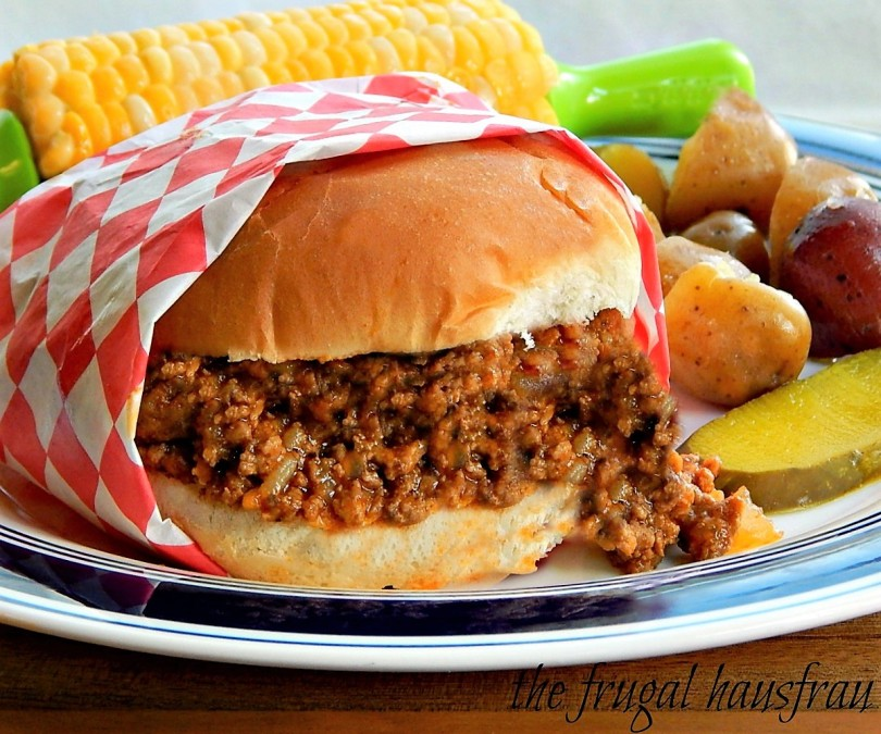 Maid-Rite Sloppy Joe Tavern Burger old Church Cookbook recipe