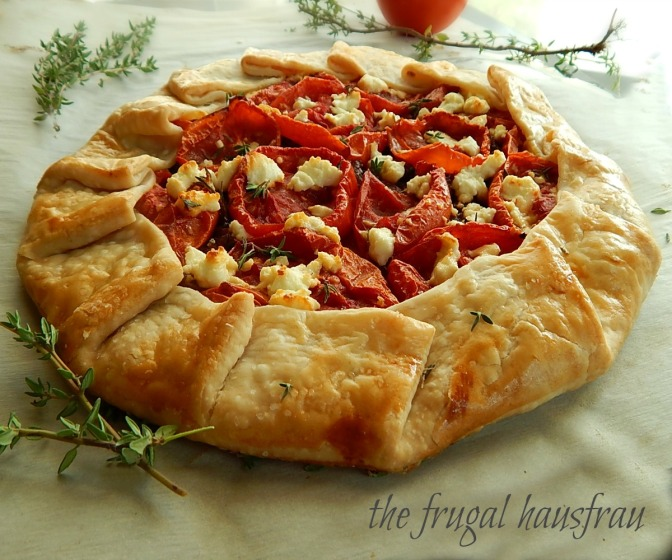 Easy Rustic Tomato & Caramelized Onion Galette