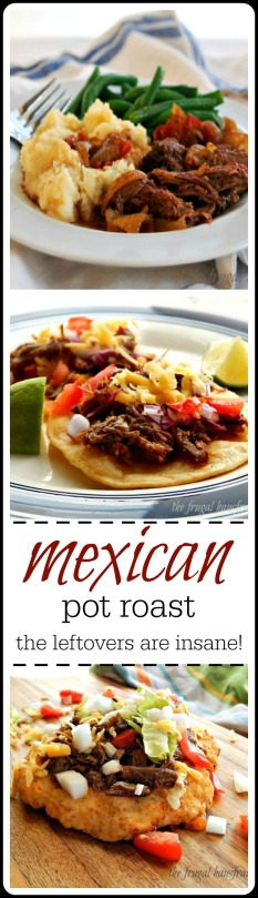 Mexican Pot Roast - Super Easy, just right and so many things to do with the leftovers!! Insanely good!