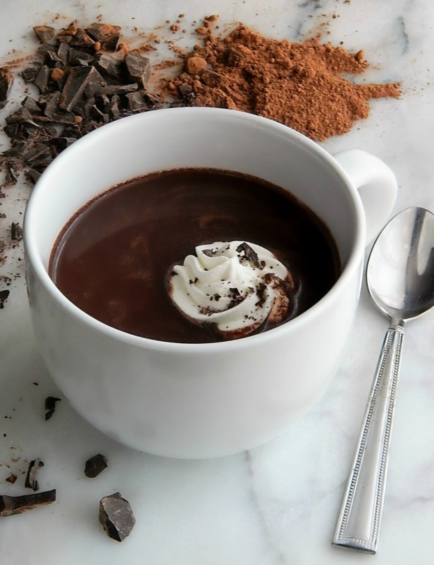 Best Hot Chocolate Double Chocolate, Cocoa, real chocolate. cream