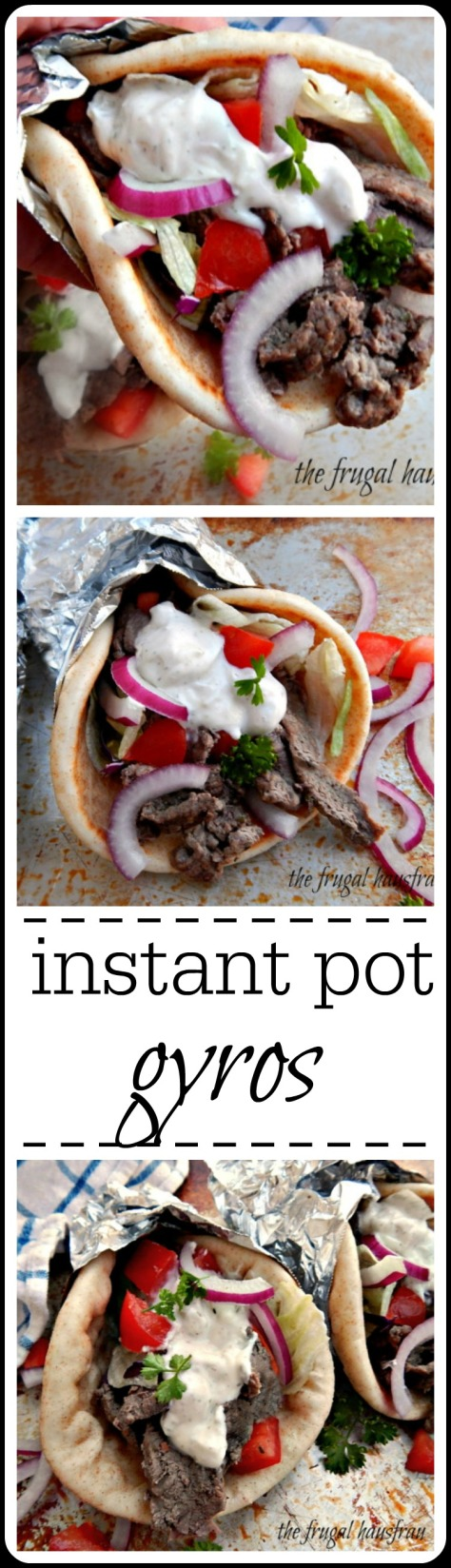 Instant Pot Gyros: Under 30 minutes for the best Gyros made at home.