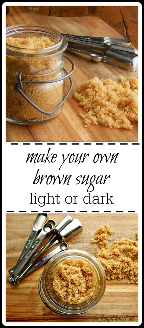 It's easy to make your own brown sugar! You just need sugar and molasses.