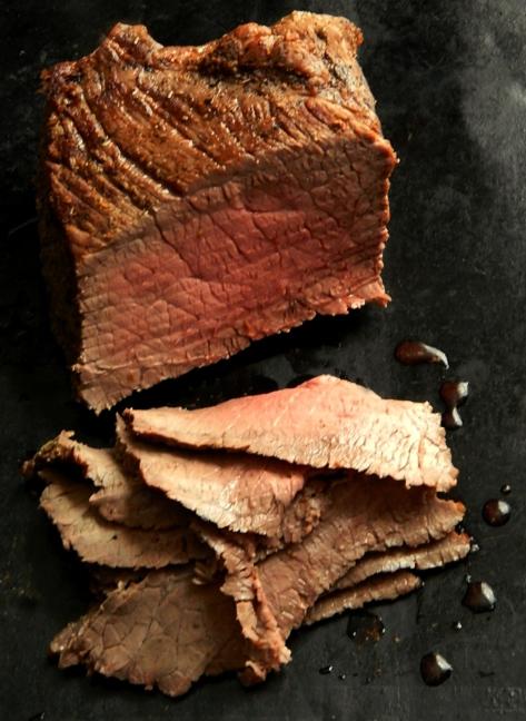 30 minute Instant Pot Roast, medium rare