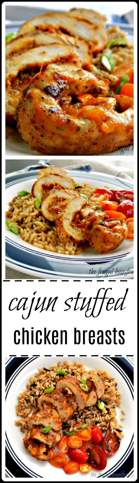 Cajun Stuffed Chicken Breast - stuffed with the classic New Orleans' Trinity and Cheese! Ya gotta have cheese!!