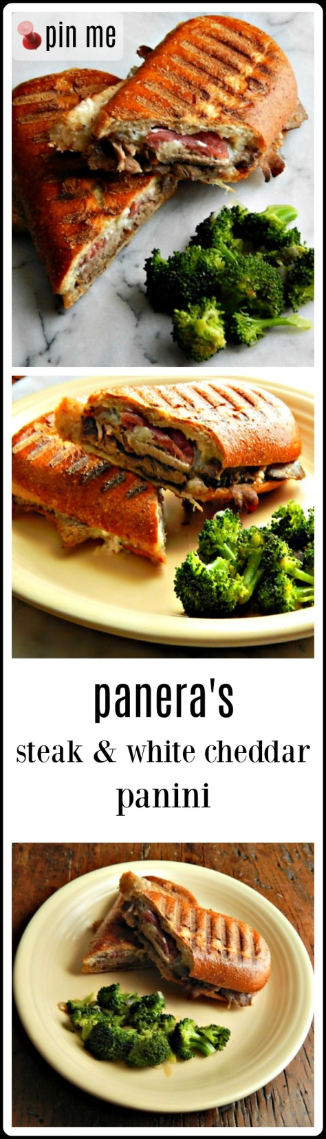 Panera Copycat Steak & White Cheddar Panini. These are great! I liked them BETTER than Paneras.