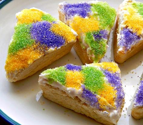 Mardi Gras King Cake Scones