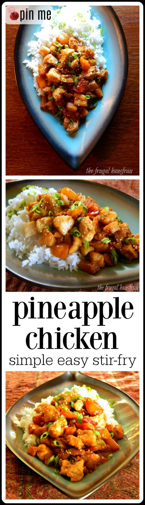 Pineapple Chicken, sweet/spicy deliciousness! Plus it's super fast and easy!